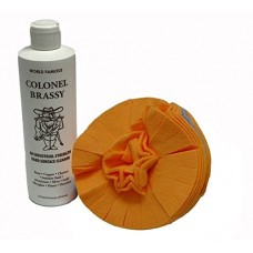 Colonel Brassy Hard Surface Cleaner with 5-inch Flitz buff ball (combo pack)