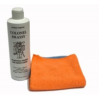 Colonel Brassy metal chrome aluminum plastic cleaner with 2-pack microfiber polishing cloth