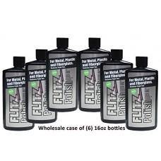 Flitz LQ04506 Wholesale case (6-pack 16 oz. Bottles) Green Metal, Plastic, Fiberglass Polish Liquid with (6-pack) Microfiber Cloth