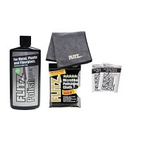 Flitz Metal Liquid Polish 16 oz Bottle with EXTRA LARGE microfiber cleaning cloth (2 mini paste) combo