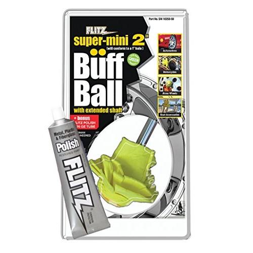Flitz SM 10250 Yellow Original Super Mini Buff Balls in Clamshell, 2-Inch