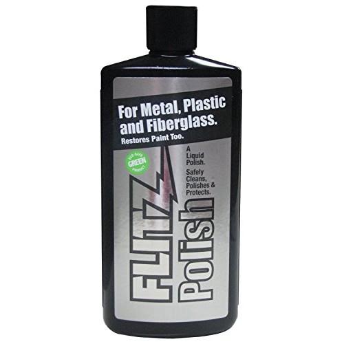 Flitz Boat Marine fiberglass cleaner and polish 16 oz LQ04506 with (2-pack) Microfiber Cleaning Cloth