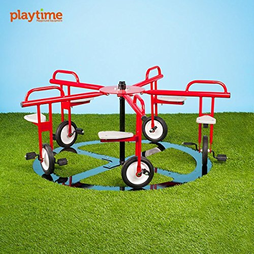 Merry Go Cycle 5 Seat Circle Cycle Merry-Go-Round Playground Equipment for Kids