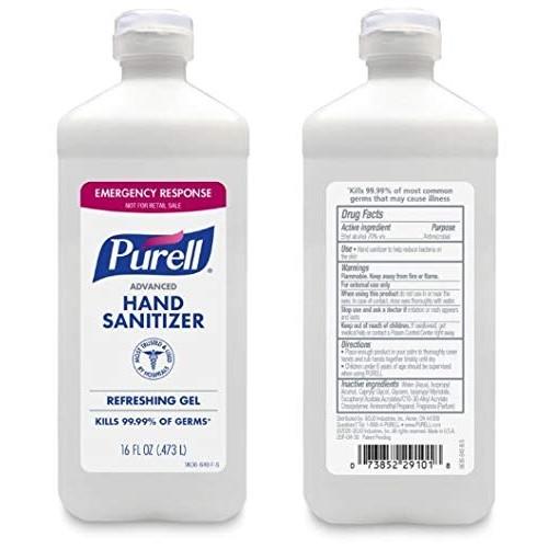Purell Advanced Instant Gel Hand Sanitizer 16 Oz, 70% Alcohol Wholesale Case