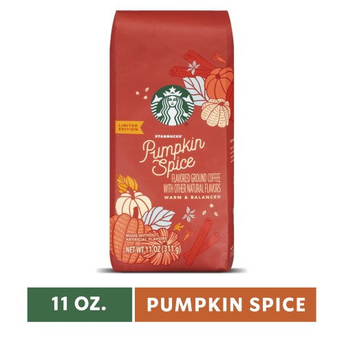 Wholesale Case (24) of Starbucks Pumpkin Spice Flavored Ground Coffee, Medium Roast 11-Ounce Bag