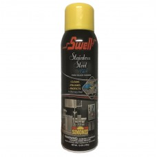 Swell Stainless Steel Polish and Cleaner Aerosol Spray Wholesale 12pk 15oz Bottles Shines, Cleans, Protects