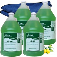 RMC DfE 401 Biozyme Degreaser Cleaner 4 Gallons + 2 microfiber cloths